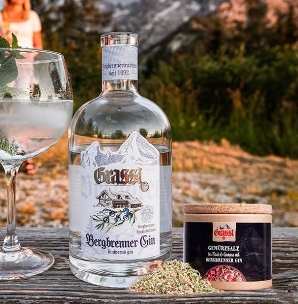 Bergbrenner Gin 43% Vol. 0,7l + Gewürzsalz mit Bergbrenner Gin 110g