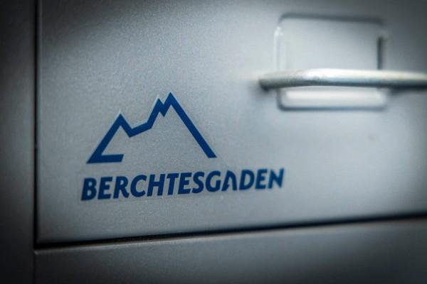 Aufkleber Berchtesgaden blau Logo Grassl