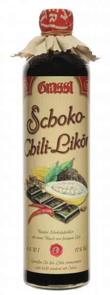 Schoko-Chili Likör 17% Vol.
