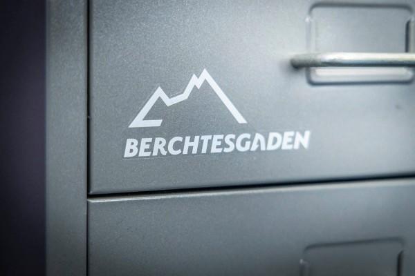 Aufkleber Berchtesgaden Logo weiß Grassl
